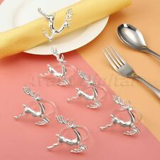 Party Decoration Deer Style Napkin Ring Wedding Table Serviette Holder Buckle 6X