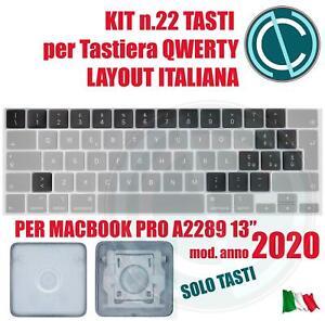"SET KIT TASTI CONVERSIONE TASTIERA ITALIANA ITA APPLE MACBOOK PRO A2289 13"" 2020"