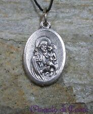 Medaglietta amuleto talismano protezione conforto SAN GIUSEPPE metallo