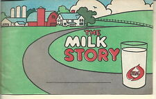NF-039 - The Real Milk Story 1960s-70's Children's Color Book Milk Advertising