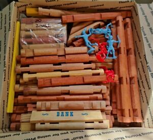 Huge Lincoln Logs (and compatible) Lot Of 300+ PIECES