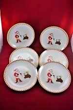 Caleb Gray's One Hundred 80 Degrees Melamine Santa Plates: Set of 6