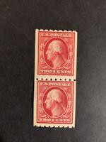 US Scott #391 Mint Hinged Pair. Cat $110. (D22).