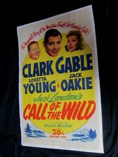 Original CLARK GABLE CALL OF THE WILD Linenbacked O/S Loretta Young SYDNEY TOLER