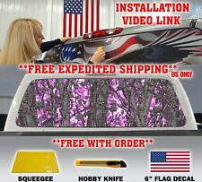 PINK GIRL CAMO CAMOUFLAGE PICKUP TRUCK BACK WINDOW GRAPHIC DECAL MUDDY TINT