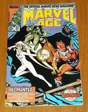 MARVEL AGE #25 MARVEL COMICS 1ST ROCKET RACCOON APRIL 1985