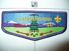 OA Langundowi Lodge 46,S3a,1980s Restricted Flap,PB,251,256,French Creek,Erie,PA