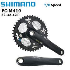 SHIMANO FC-M410 7/8 Speed MTB Bike Chainwheel Bicycle Crankset 42-32-22T 170MM