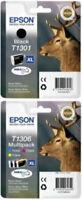 Originale extra Alta Capacità 4 Colori Epson T1301/T1306 Inchiostri T1301 &