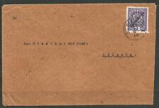 AUSTRIA. 1919. COVER. 3h OVERPRINT. WIEN NEUSTADT TO LEIPZIG.