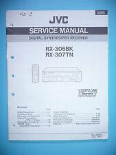 Instrucciones Manual de servicio para JVC rx-306/rx-307, original