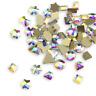 100pcs Glass Geometric AB Colorful Crystal Flatback Nail Art Rhinestones Decor