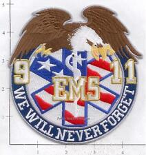 New York - 9-11-01 EMS We Will Never Forget  9-11 343 NY Fire Patch v2