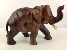 Elephant Hand Carved From( Sono Wood)IndonesianIron Wood With Excellent Details.