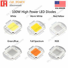 100w Watts High Power Smd Led Chip Cob Lamp White Red Blue Green Uv Lights Board