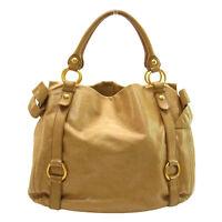 miumiu Handbag Logo Brown Woman Authentic Used M771