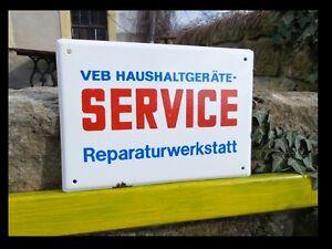 * VEB REPERATUR WERKSTATT SERVICE  / guter ZUSTAND / Blau Weiß Rot / RAR & Fine