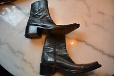 mens Dsquared cuban heeled leather boots size 40.5