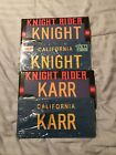 Knight Rider Set Of 2 KNIGHT & KARR STAMPED Replica Prop License Plates New