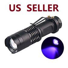 US SHIP 395nm 5W LED High Powered UV Lamp Black Light Ultra Violet Flashlight