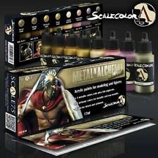 Scale 75 SCL-SSE-010 Scale Color- Metal And Alchemy Golden Series Paint Set