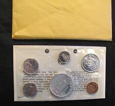 1966 Canada Uncirculated Coin Set in Envelope w/ Silver