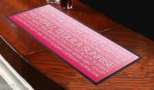 COCKTAIL Bar Towel Runner Pub Mat Beer Cocktails Party BUS BLIND WHITE TEXT
