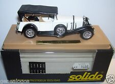 AGE D'OR SOLIDO OLD MERCEDES SS 1928  BLANCHE METAL 1/43 IN BOX