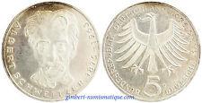 ALLEMAGNE  ,  5  MARK  ARGENT  1975 G  , ALBERT  SCHWEITZER ,  SUPERBE
