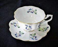 Vintage SHELLEY Bone China England BLUE BELLS Pattern Footed Cup