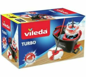 Vileda Easy Wring and Clean Turbo Microfibre Mop and Bucket Set Grey GREAT PRICE