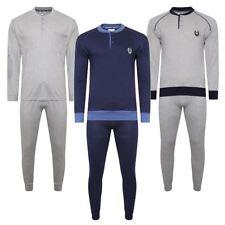 New Mens 100% Cotton Pyjamas Pjs Loungewear Set Nightwear Longsleeve Top & Pant