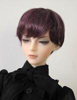 """1/3 bjd SD 8-9"""" doll head violet short wig Luts Iplehouse dollfie dream"""