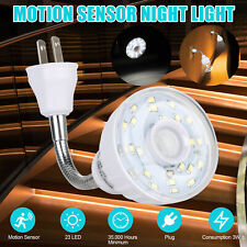 LED Motion-Activated Sensor Night Light AC Outlet Plug-In...