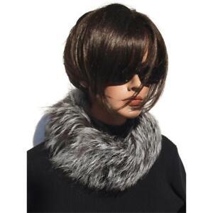 Fur Scarf Silver Fox Collar Fur Fashion Coat Jacket Trend fuchs Natural Ladies