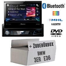 BMW 3er E36 - PIONEER Autoradio DVD Bluetooth 7-Zoll MONITOR Radio - Einbauset