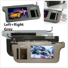 "2Pcs 7"" Grey Car 2 Channel Video Sunvisor Rear View Mirror Screen Lcd Monitors"