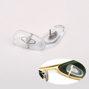 1 Pair Clear Crimp-On Nose Pads Compatible w/ Ray Ban RB Glasses Sunglasses