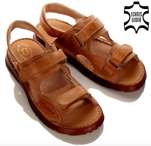Herren Leder Sandalen Pantoletten Schuhe HausSchuhe Pantoffeln Größe 40-46 NEU