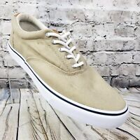 Sperry Striper CVO Men's Sneaker Shoes Beige Size 12 Salt Washed Twill 1048065