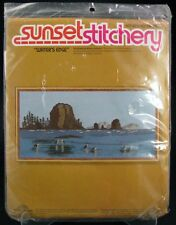 Vintage Unopened -Sunset Stitchery Crewel Embroidery Kit Waters Edge Kit No2464