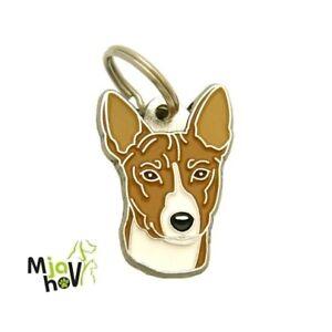 Dog name ID Tag,  Basenji, Personalised, Engraved, Handmade, Charm