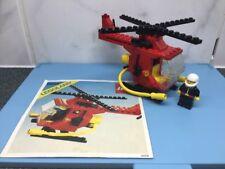 VINTAGE LEGO CLASSIC 1982 Fire Elicottero 6685 Completo & Istruzioni