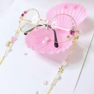Japanese Vintage Harajuku Sweet Lolita Star Moon Gothic Chain DIY Glasses gifts