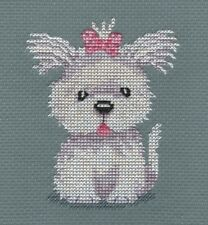 CL89 Cassie (Westie Puppy) Counted Cross Stitch Chart by Genny Haines