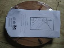 Mainstays 16-1/2in Round Molded Wood Toilet Seat Brown New In Pkg