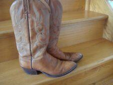 Men's Vintage J. Chisholm Brown Leather Western Cowboy Boot Size 9 D USA Made