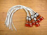 6 BBT Marine Grade Waterproof 24 volt Red LED Hi-Profile Indicator Lights