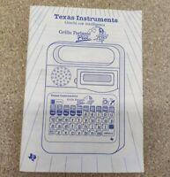 Libretto Gioco Elettronico GRILLO PARLANTE PIÙ - TEXAS INSTRUMENTS Azzurro