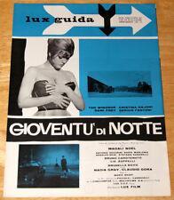 guida pubblicitaria LUX film GIOVENTU' DI NOTTE Cristina Gajoni 1961